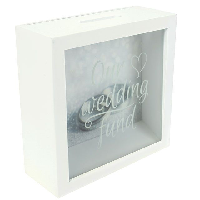 Our Wedding Fund 65135 Savings Shadow Frame Glass Front